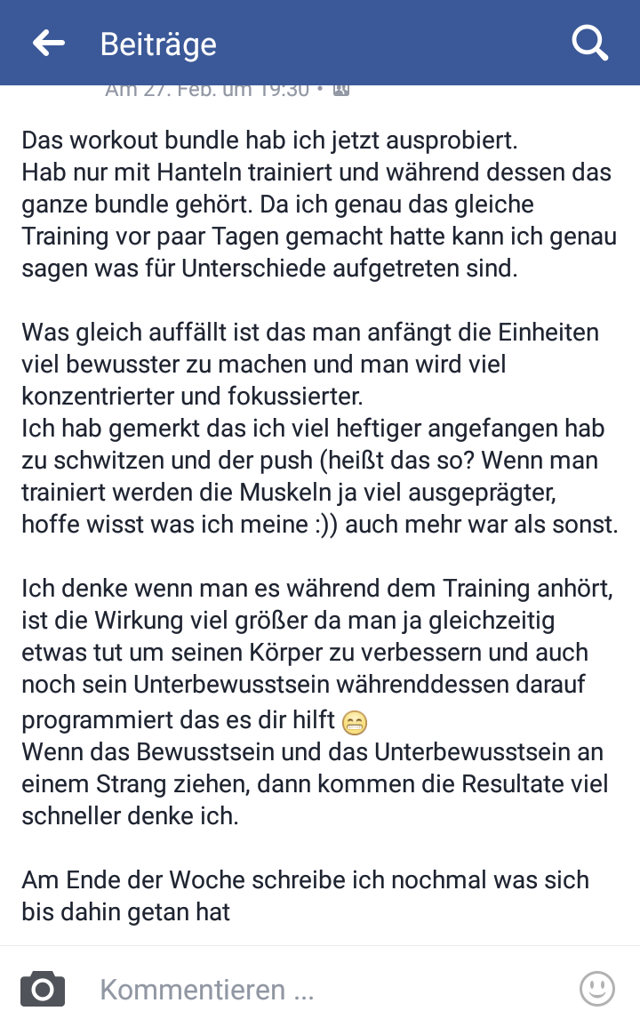 Erfahrung mit Affirmationen