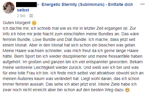 Meine Erfahrung mit den Subliminals