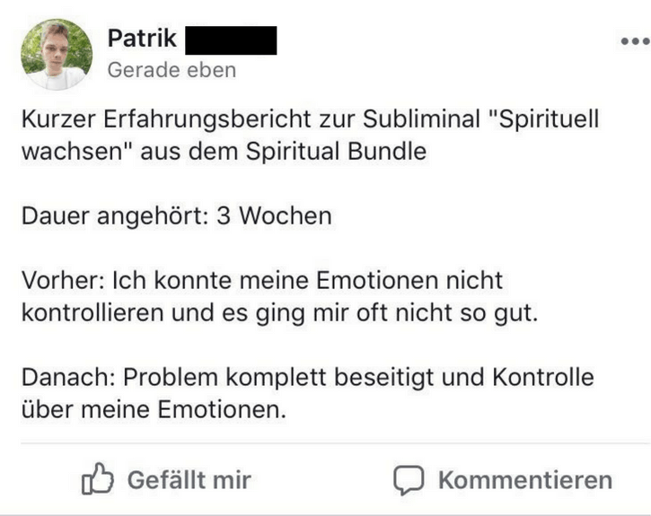Subliminals Spirituell