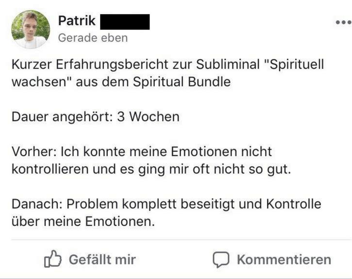 Subliminals Spirituell
